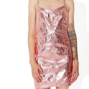 For Love & Lemons Pink Metallic Dress